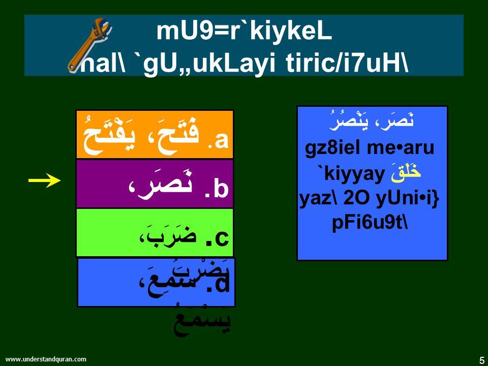 4 www.understandquran.com قواعد – vYakrzM oru xI{GwVasM 4fu8 EwWM TPI 1nusric/\ pak\fIs\ecy/uk.