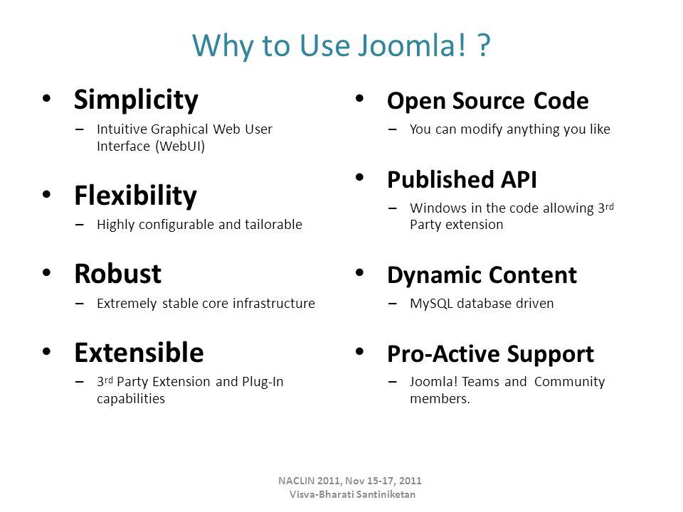 Why to Use Joomla.