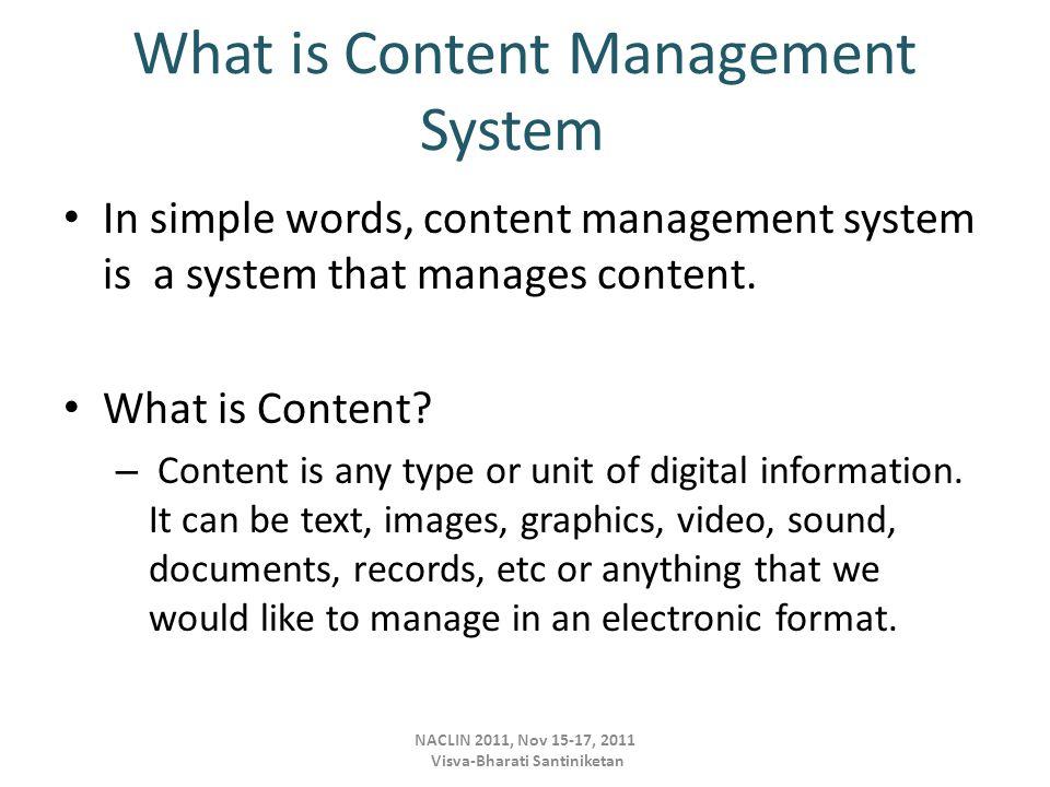 What is Content Management .– Content Management is the management of the content.