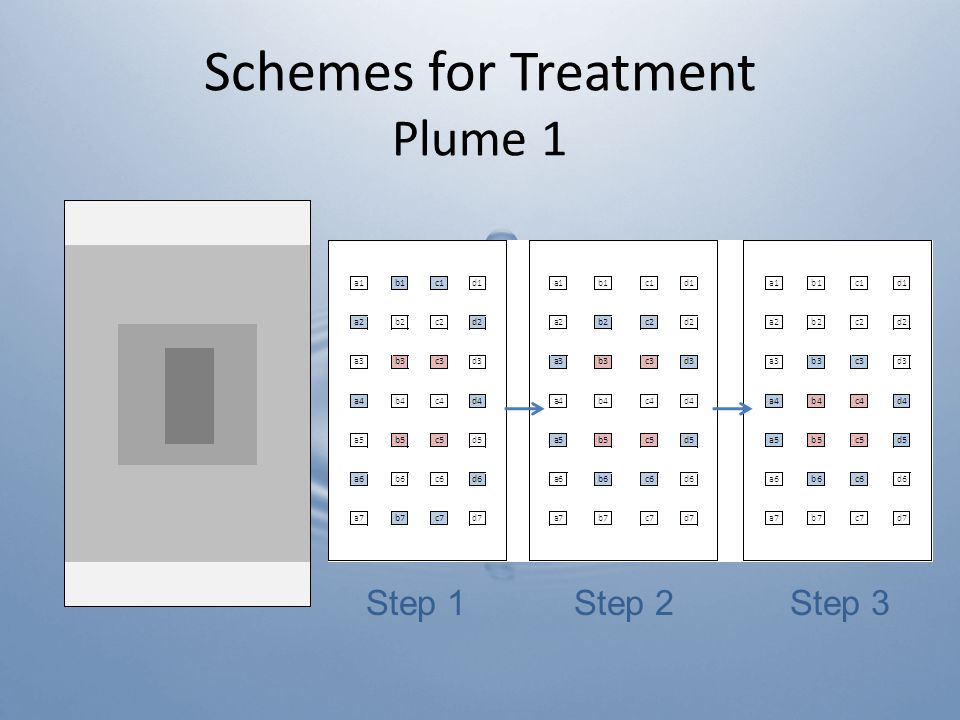 Schemes for Treatment Plume 1 Step 1Step 2Step 3