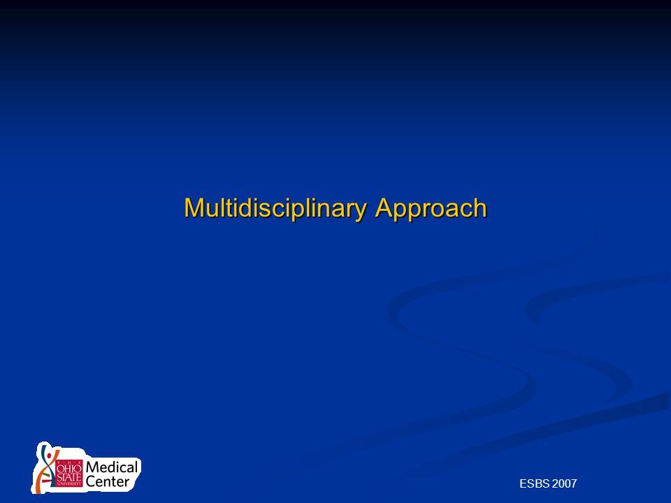 ESBS 2007 Multidisciplinary Approach