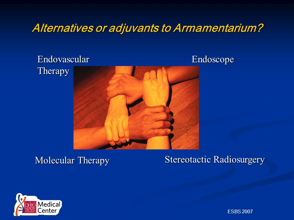 ESBS 2007 Alternatives or adjuvants to Armamentarium.