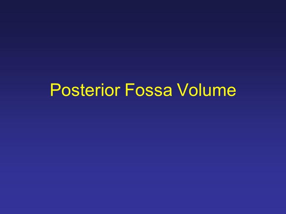 Posterior Fossa Volume