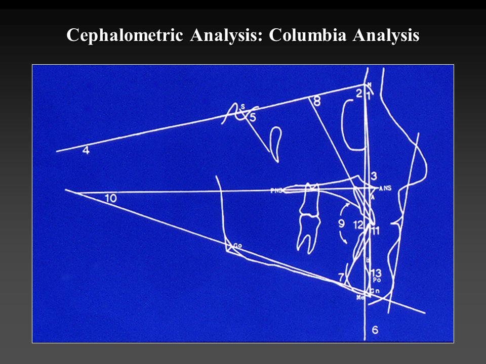 Cephalometric Analysis: Columbia Analysis