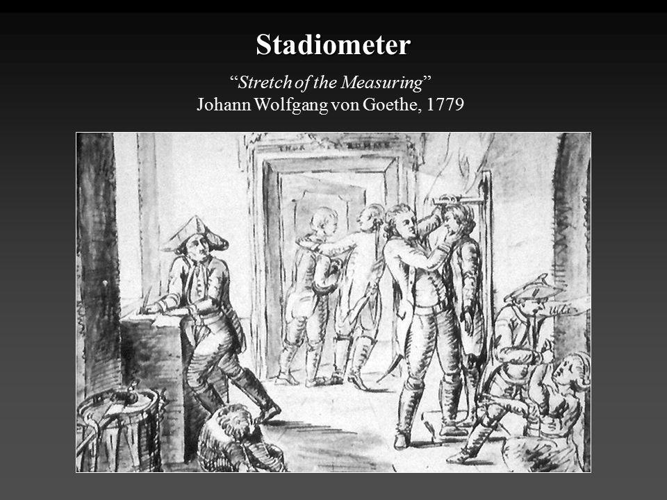"Stadiometer ""Stretch of the Measuring"" Johann Wolfgang von Goethe, 1779"