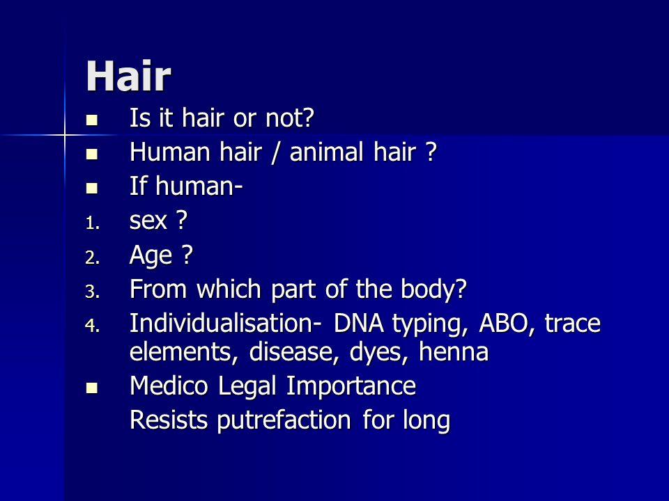 Hair Is it hair or not. Is it hair or not. Human hair / animal hair .