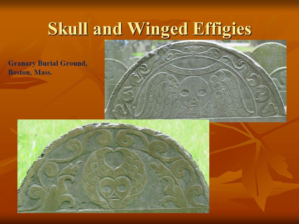 Skull and Winged Effigies Granary Burial Ground, Boston, Mass.