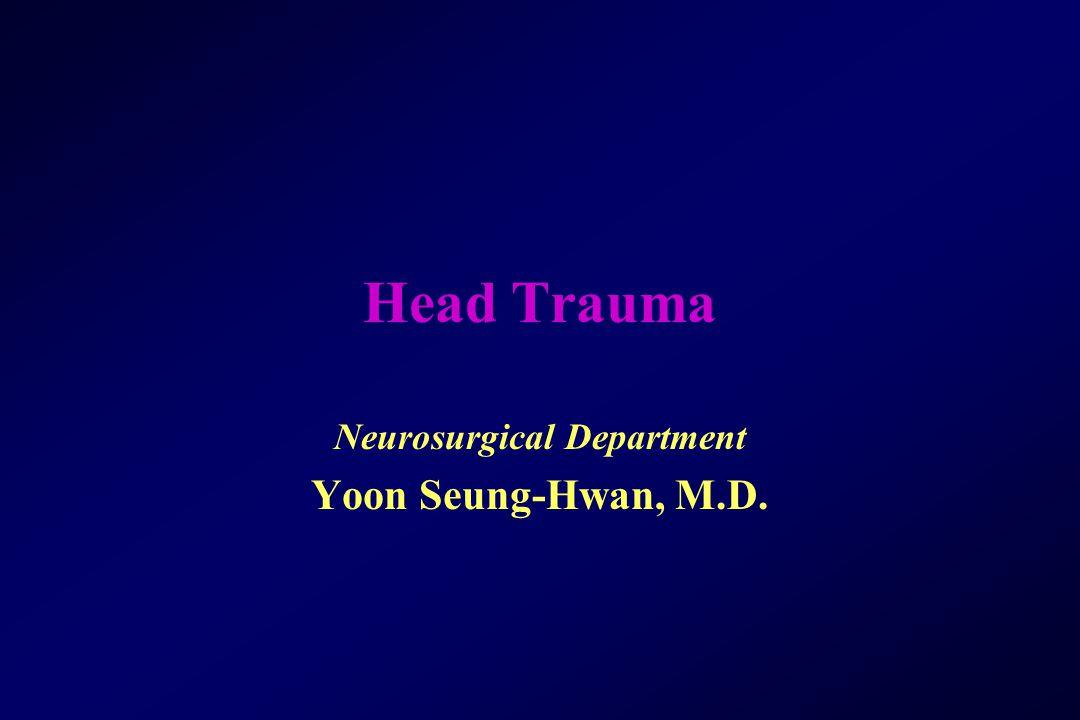 Head Trauma Neurosurgical Department Yoon Seung-Hwan, M.D.
