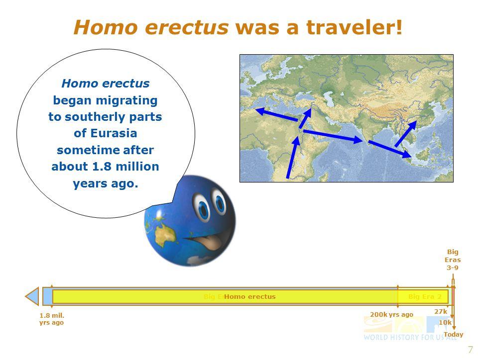 7 Homo erectus was a traveler.