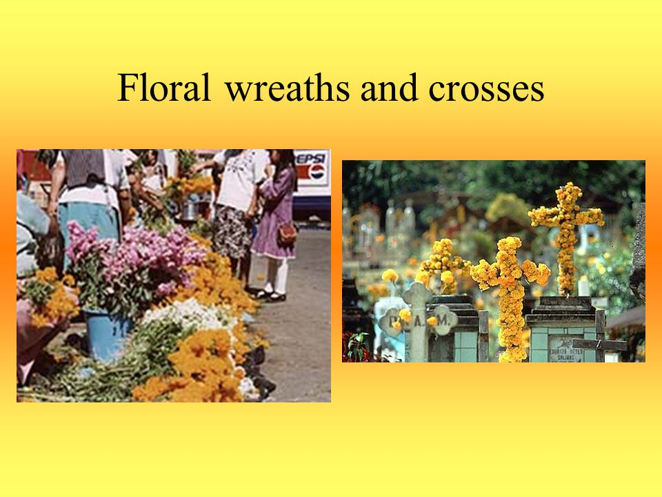 Floral wreaths and crosses