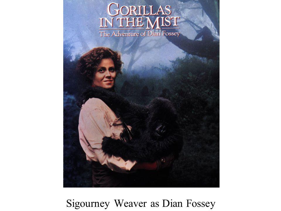 Sigourney Weaver as Dian Fossey