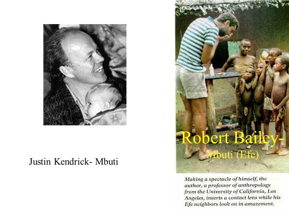 Robert Bailey- Mbuti (Efe) Justin Kendrick- Mbuti