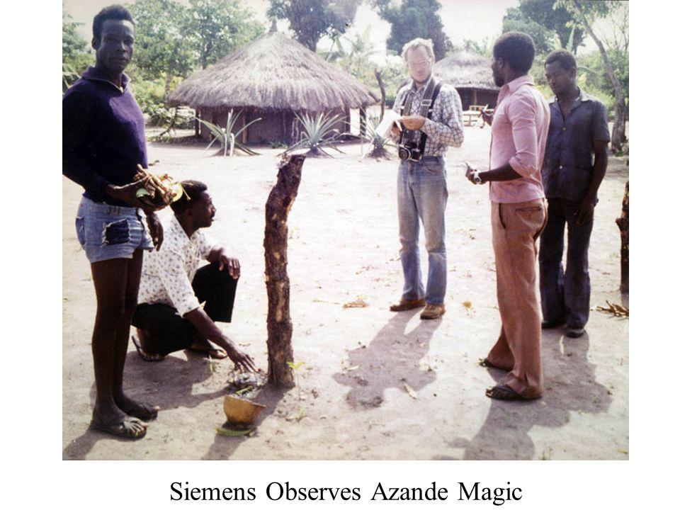 Siemens Observes Azande Magic