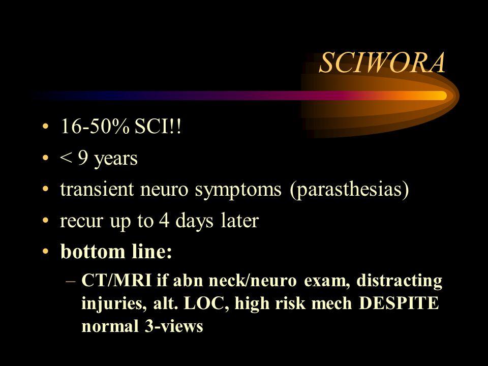 SCIWORA 16-50% SCI!.