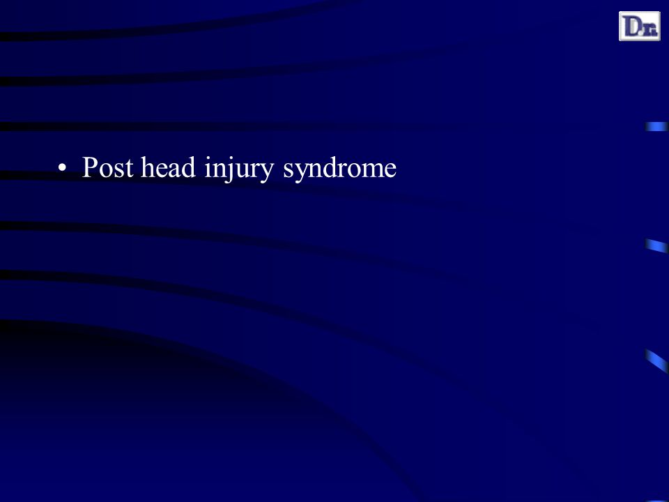 Post head injury syndrome