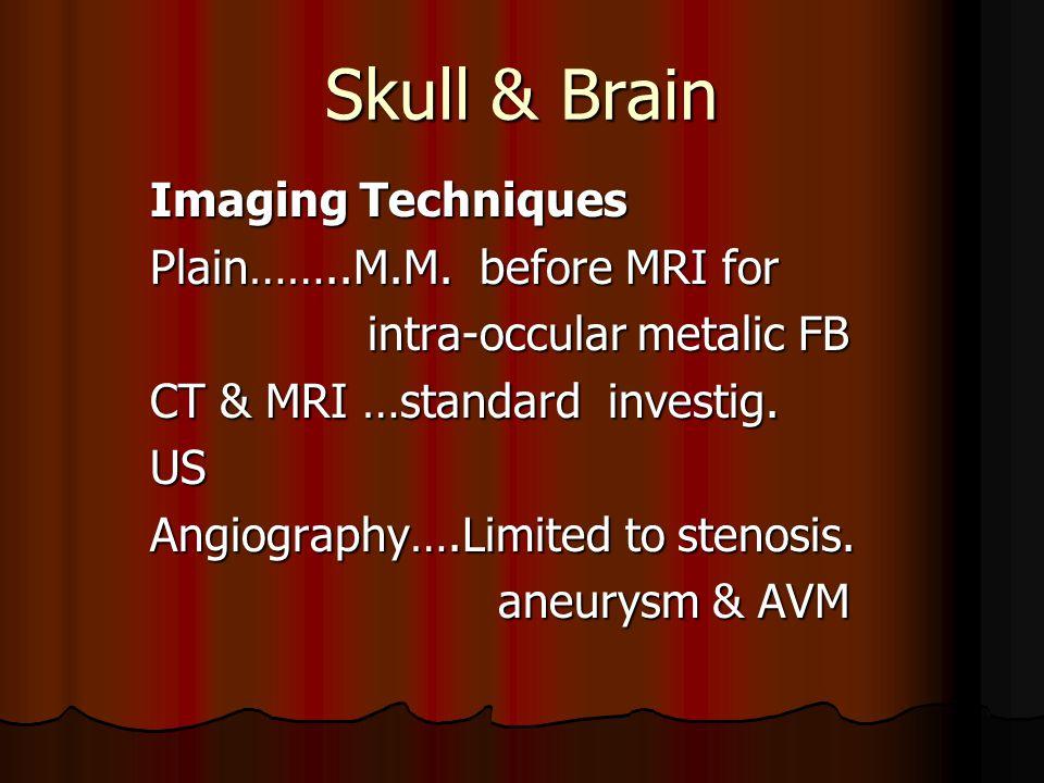 Skull & Brain Imaging Techniques Plain……..M.M.