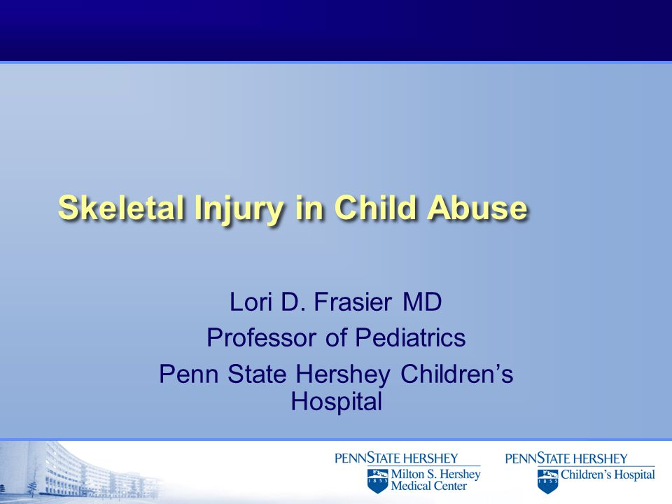 Skull Fractures l Unlike skeletal injuries, skull fractures do not heal with the typical periosteal reaction and cannot reliably be dated l May or may not see overlying swelling u In some cases swelling is seen only at autopsy u This may be related to the hemodynamic compromise present in many of these children that have sustained massive head injuries