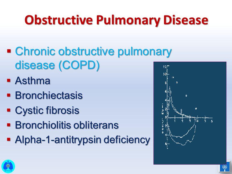  תמונה חסימתית אקספירטורית: –FEV 1 מופחת, FEV 1 / FVC מופחת –ללא שיפור משמעותי עם מרחיבי סימפונות  נפחי הריאה ויכולת דיפוזיה ( D L CO ) – תקינים COPD - Chronic Bronchitis Phenotype תפקודי ריאה