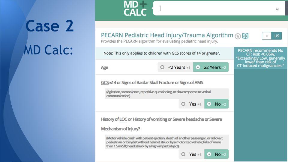 MD Calc: Case 2