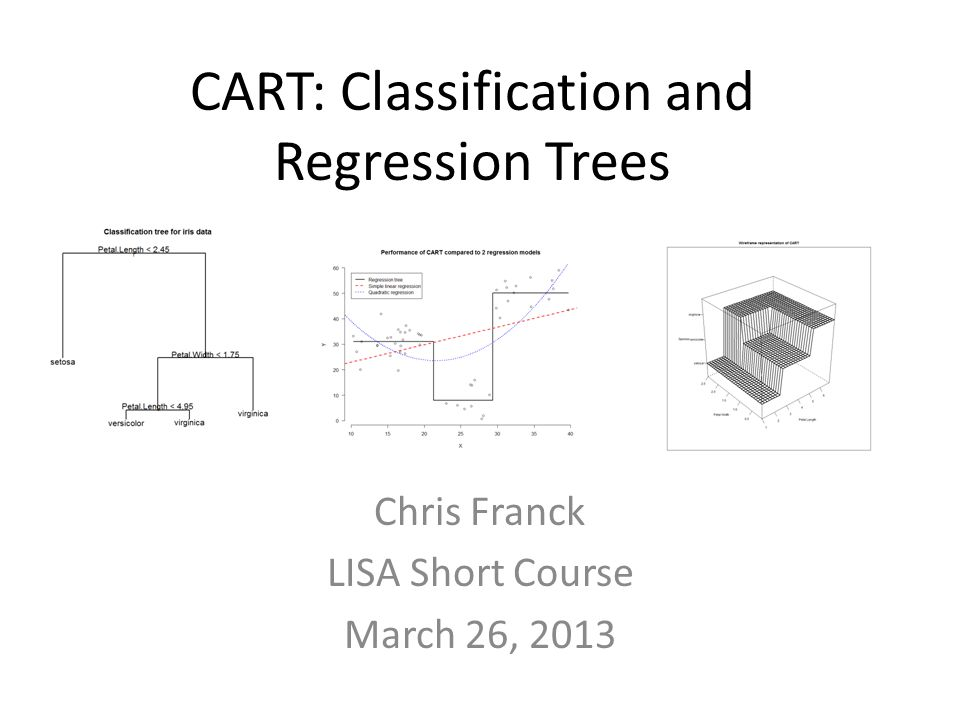 CART: Classification and Regression Trees Chris Franck LISA Short Course March 26, 2013