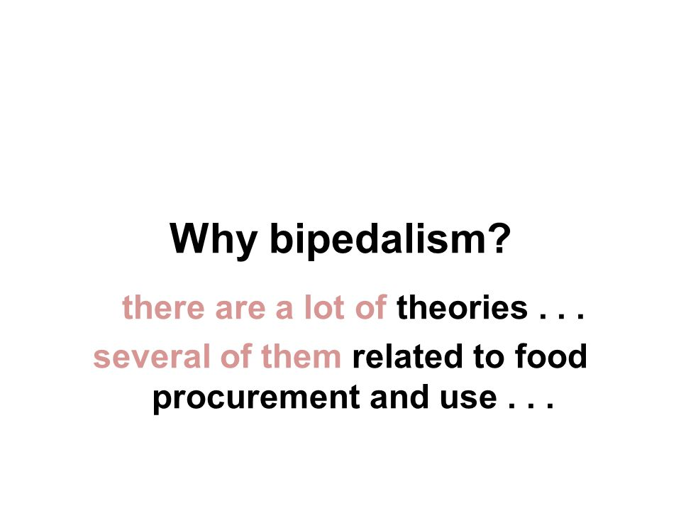 Why bipedalism. there are a lot of theories...