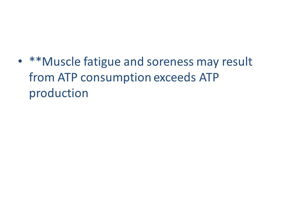 *Energy for muscle contraction comes from glycogen, glucose, and ATP **When a skeletal muscle contracts the sarcomeres shorten **Components of muscle tissue in order smallest to largest: Actin and myosin filaments, sarcomere, myofibril *When a sarcomere is fully contracted actin and myosin completely overlap each other