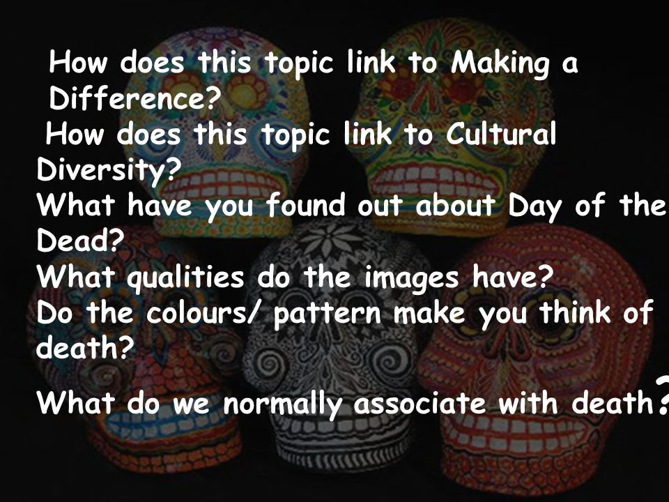 How does this topic link to Making a Difference. How does this topic link to Cultural Diversity.