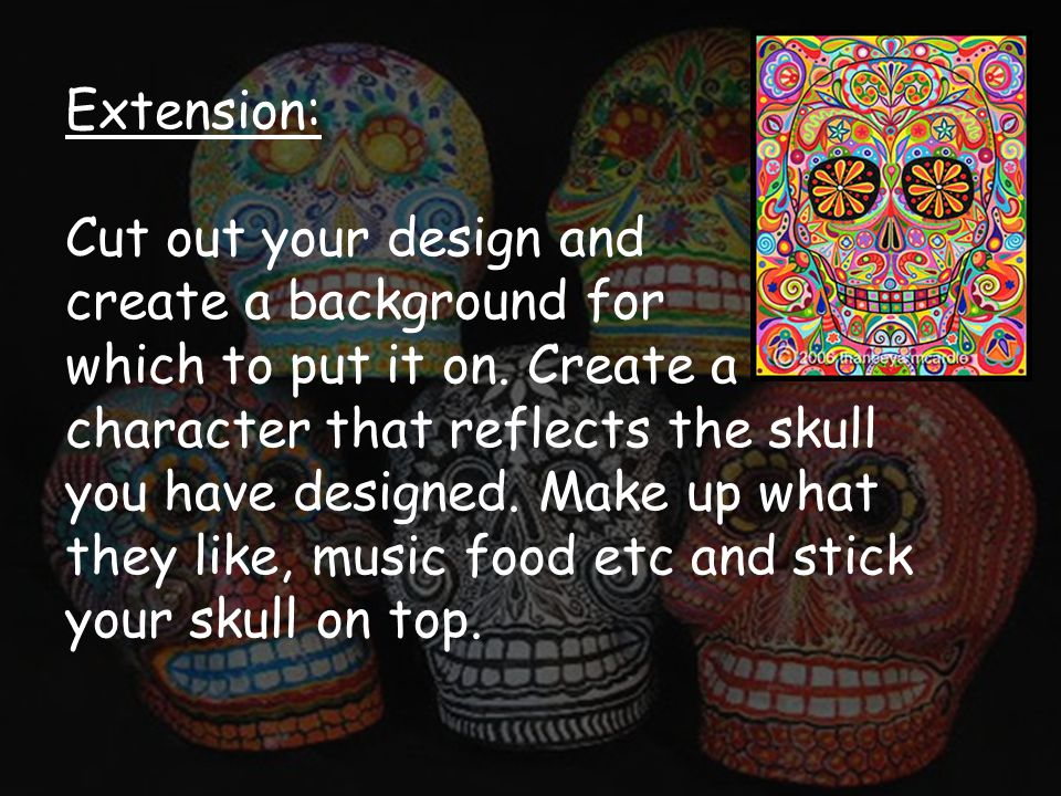 Extension: Cut out your design and create a background for which to put it on.