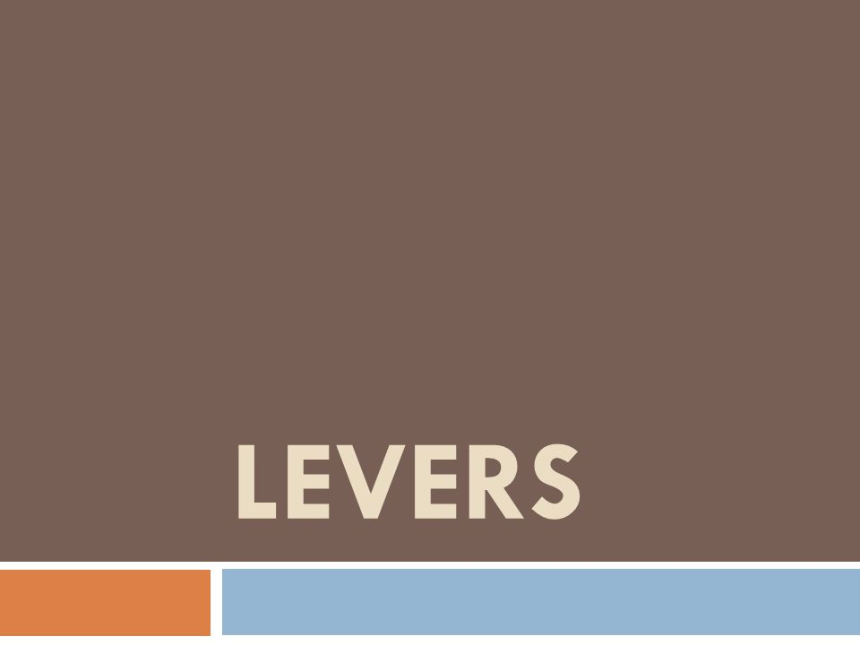What is a lever.
