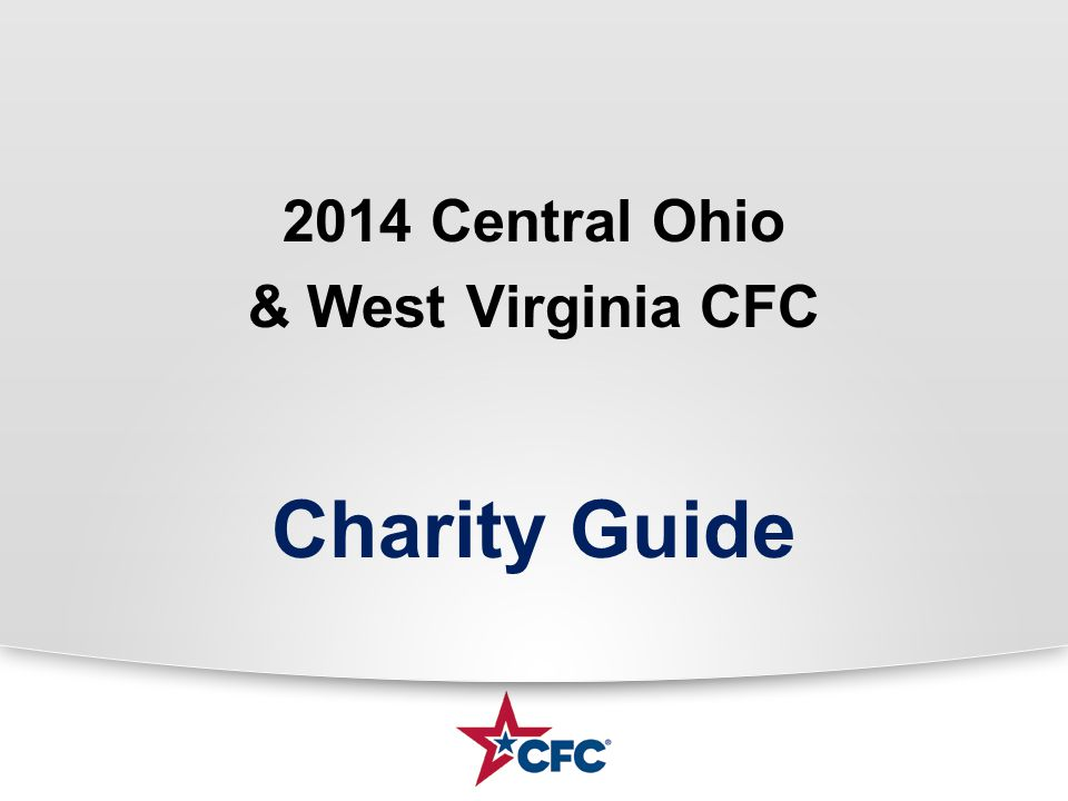 2014 Central Ohio & West Virginia CFC Charity Guide