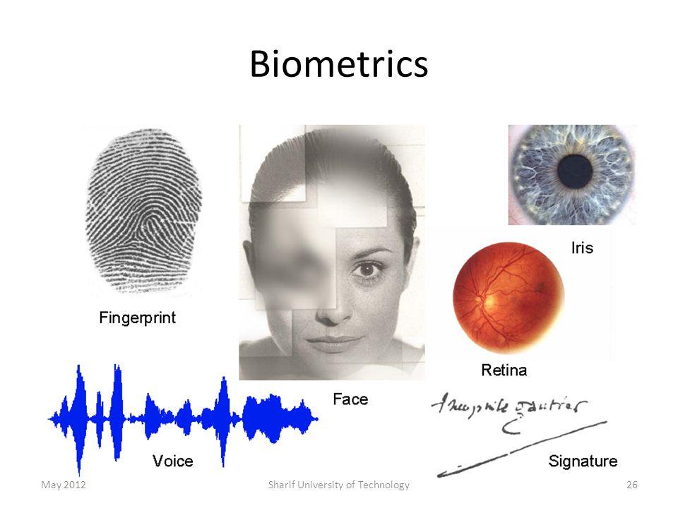 Biometrics May 2012Sharif University of Technology26