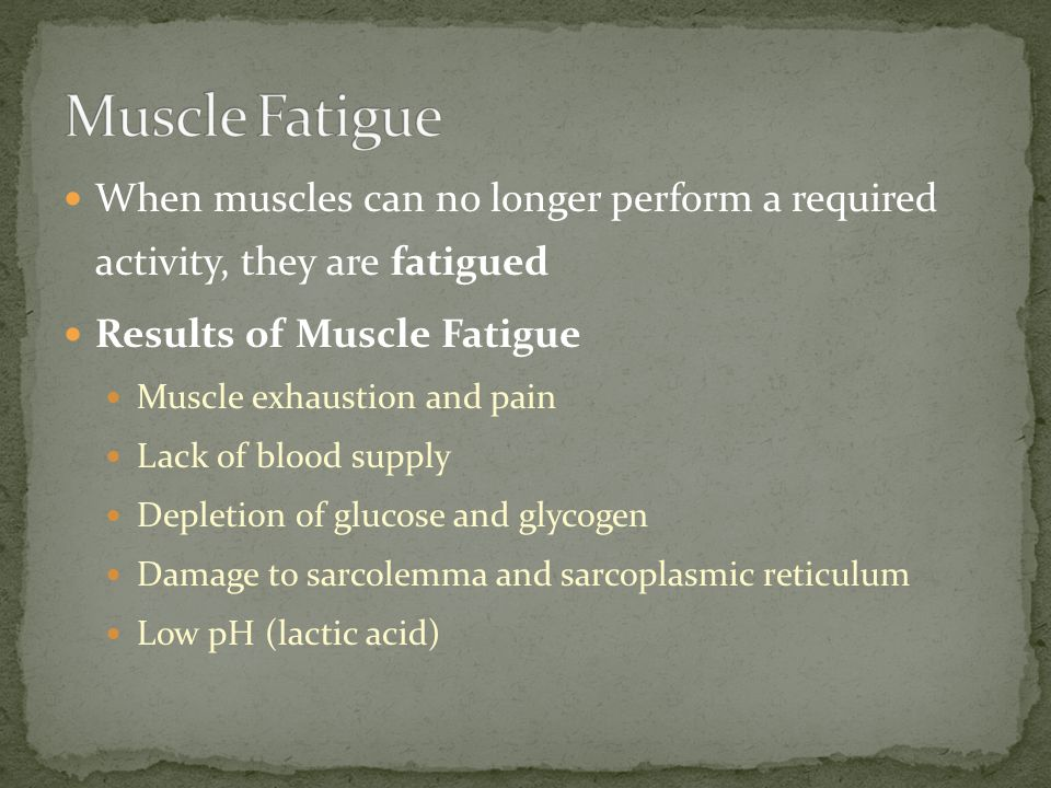 Sustained muscle contraction uses a lot of ATP energy Muscles store enough energy to start contraction Muscle fibers must manufacture more ATP as needed