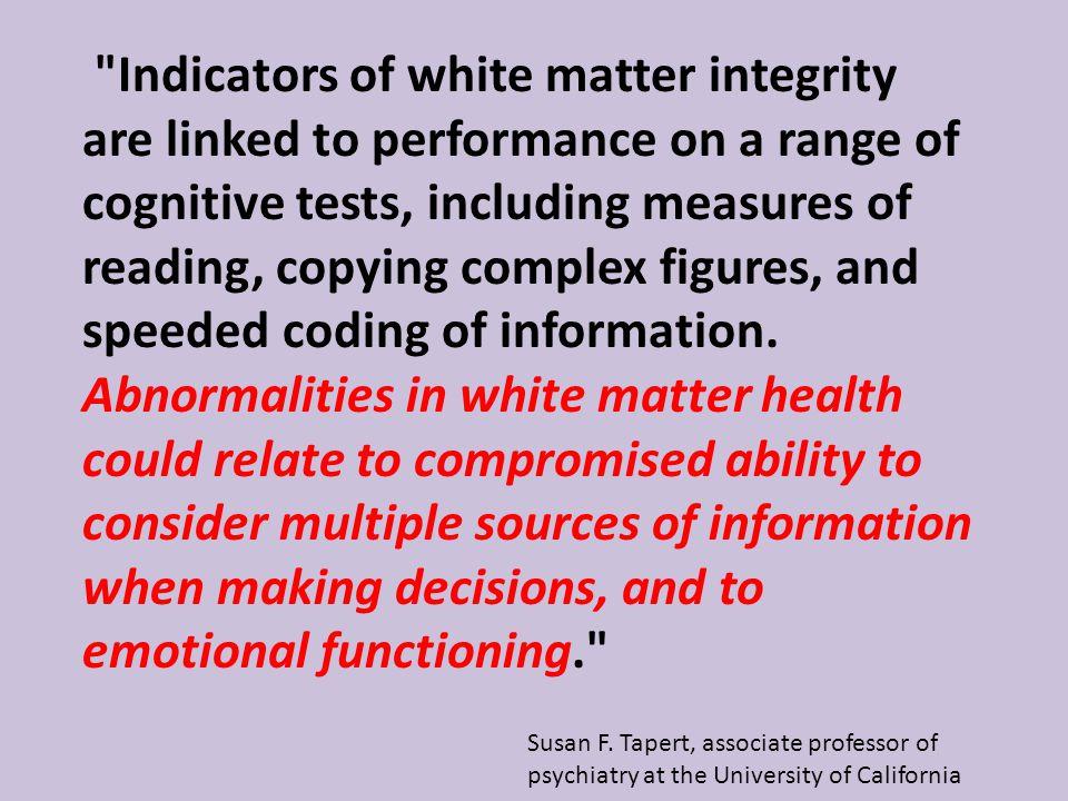 Susan F. Tapert, associate professor of psychiatry at the University of California