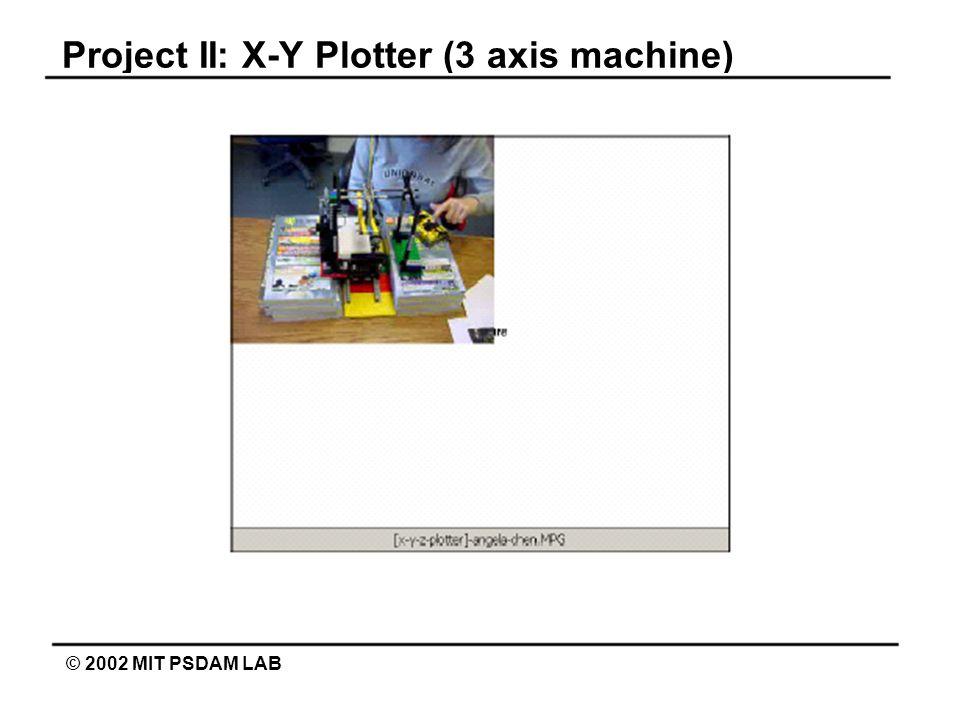 Project II: X-Y Plotter (3 axis machine) © 2002 MIT PSDAM LAB