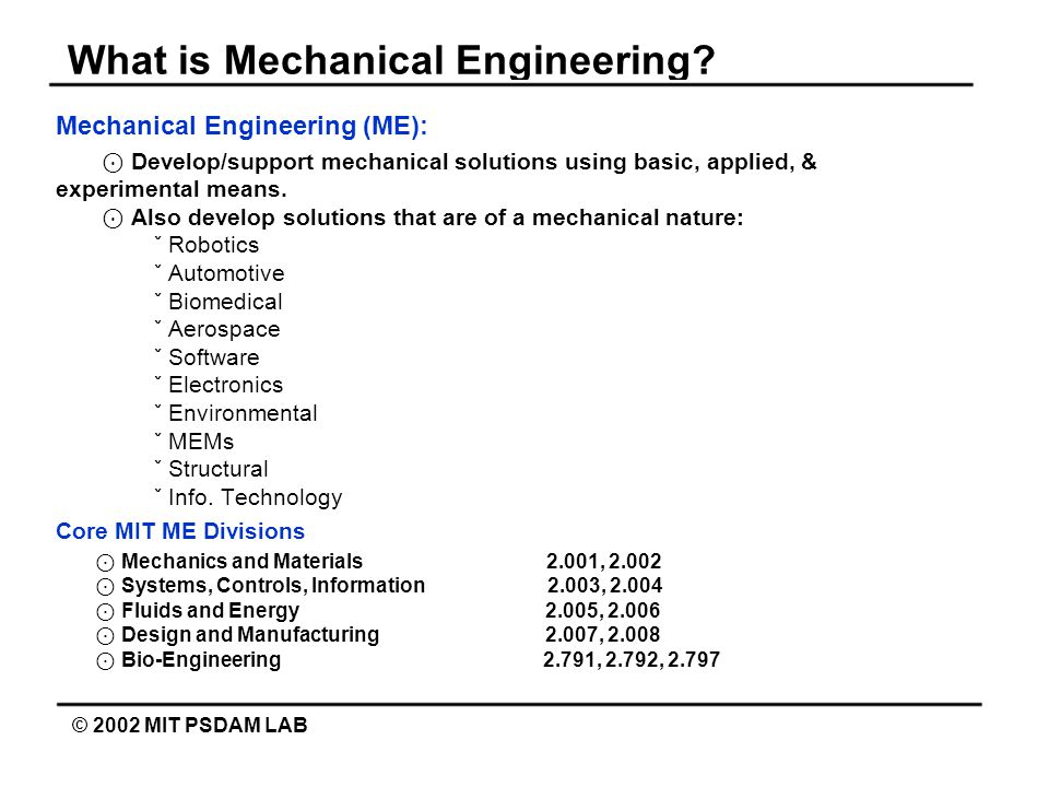 What is Mechanical Engineering.