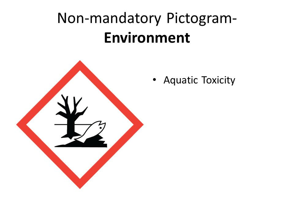 Non-mandatory Pictogram- Environment Aquatic Toxicity