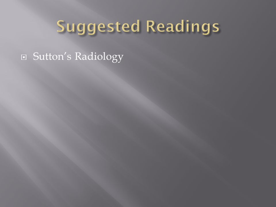  Sutton's Radiology