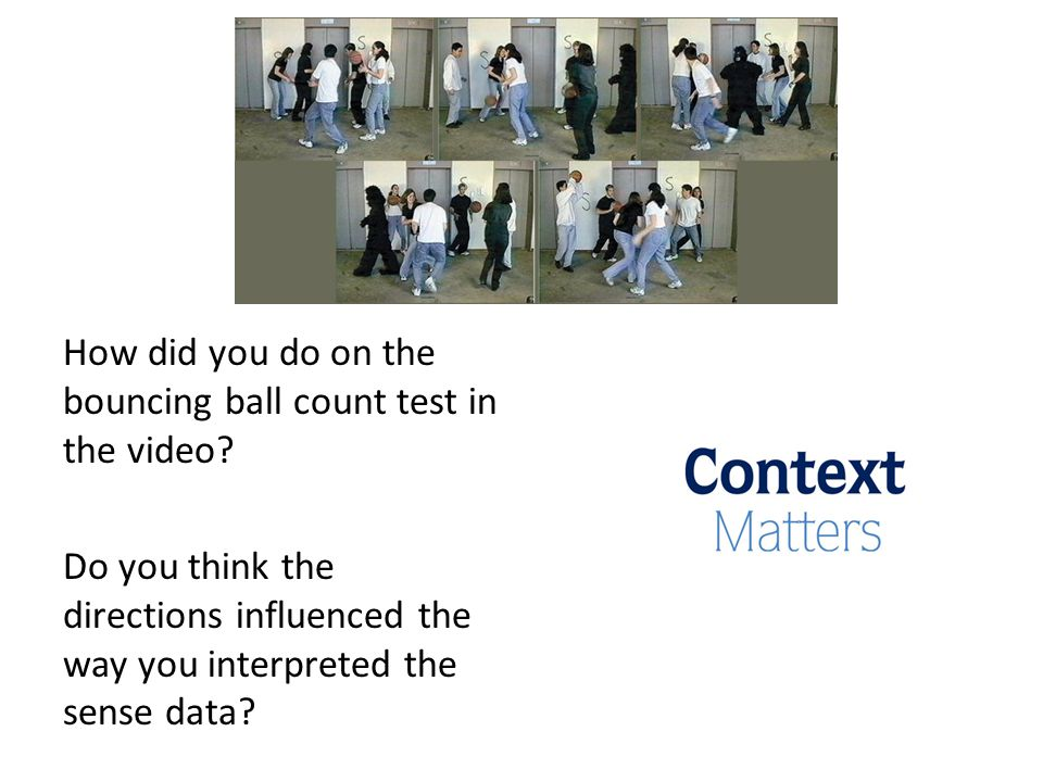 How did you do on the bouncing ball count test in the video.