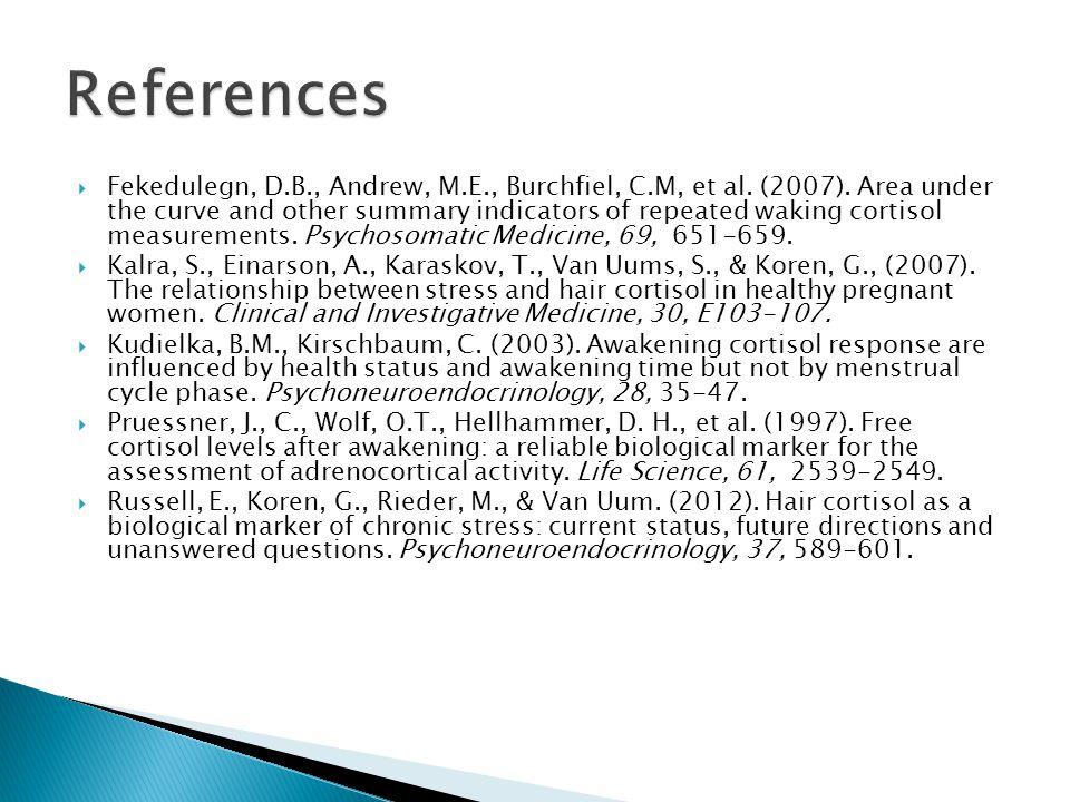  Fekedulegn, D.B., Andrew, M.E., Burchfiel, C.M, et al.