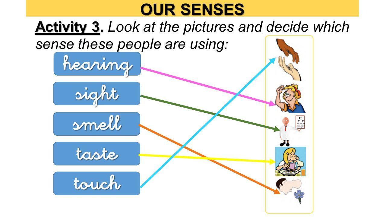 OUR SENSES Activity 3. Activity 3.