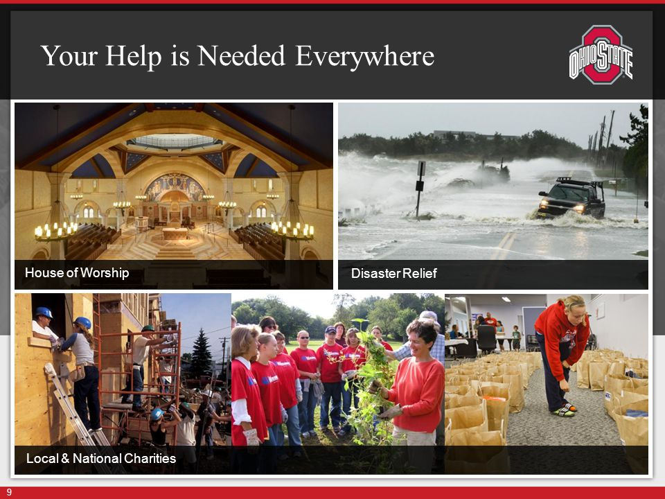 Your Help is Needed Everywhere 9 House of Worship Disaster Relief Local & National Charities