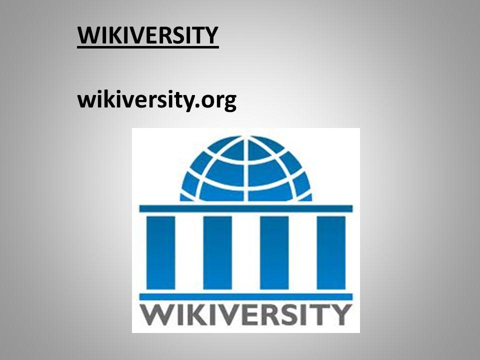 WIKIVERSITY wikiversity.org