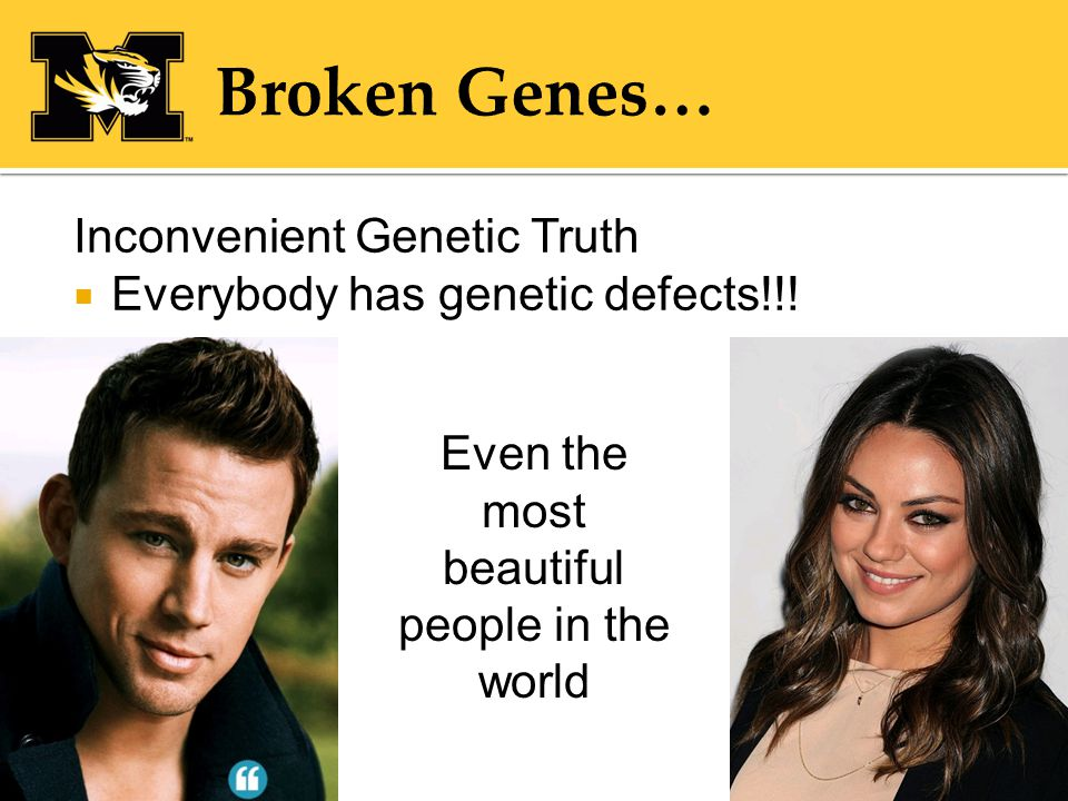 Inconvenient Genetic Truth  Everybody has genetic defects!!.