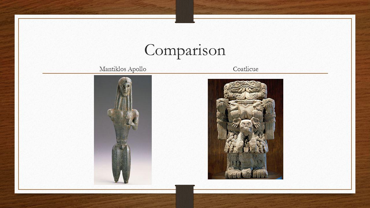 Comparison Mantiklos Apollo Coatlicue