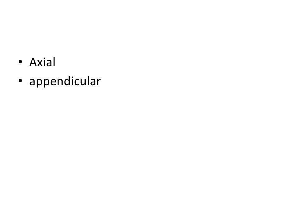 Axial appendicular