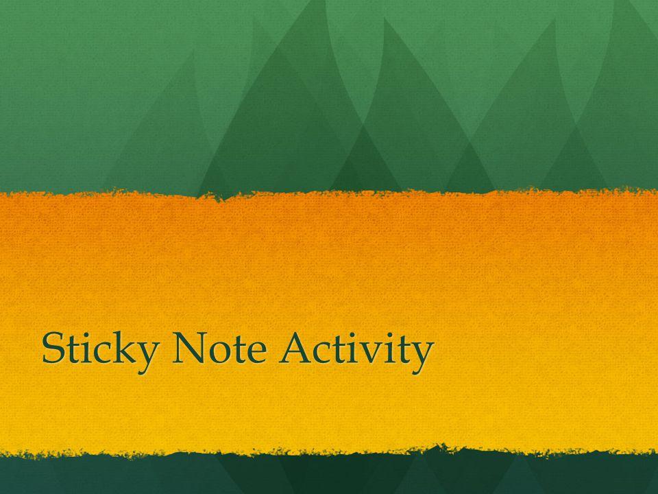 Sticky Note Activity