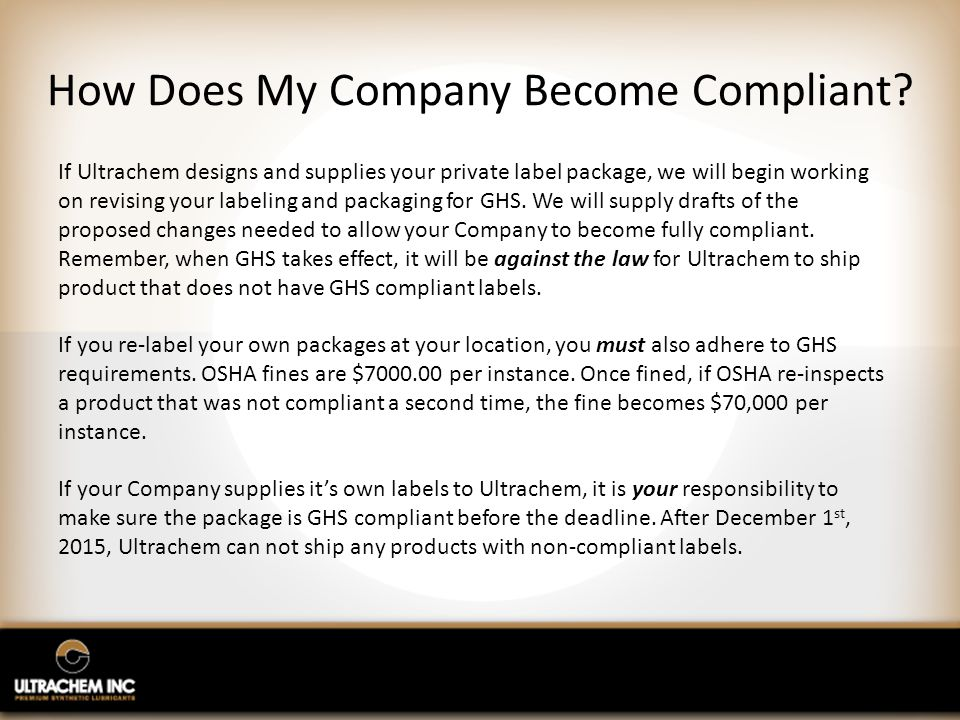How Does My Company Become Compliant.