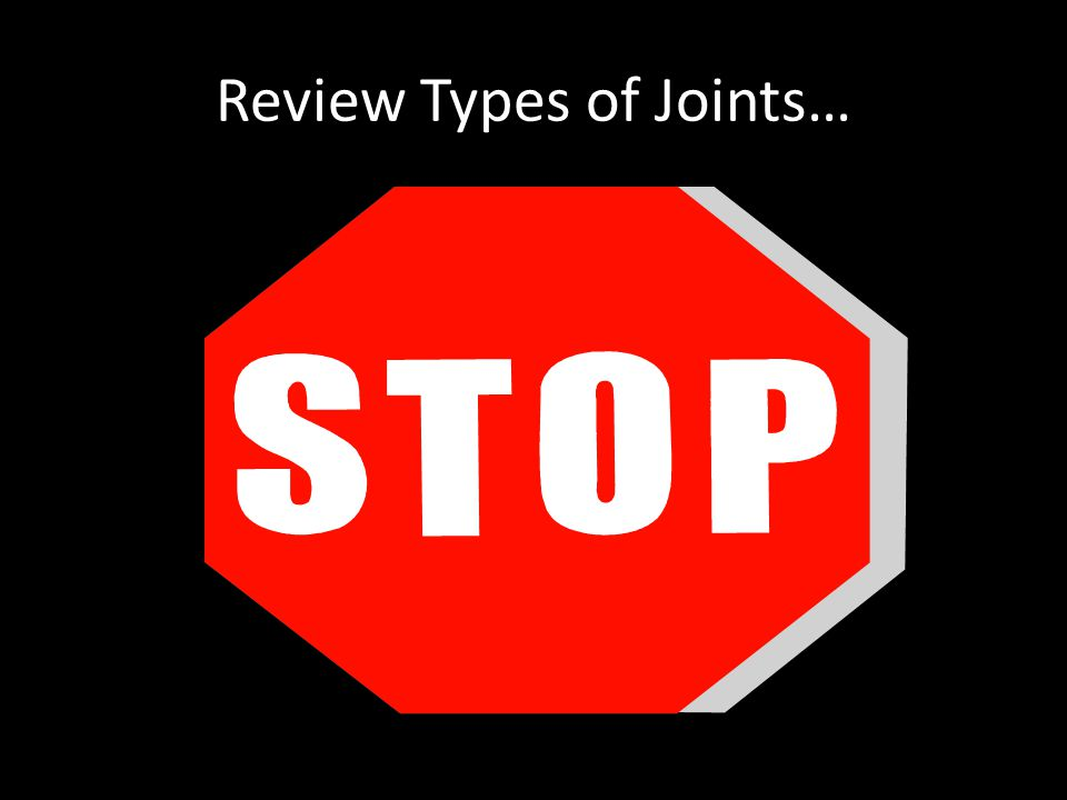 Review Types of Joints…