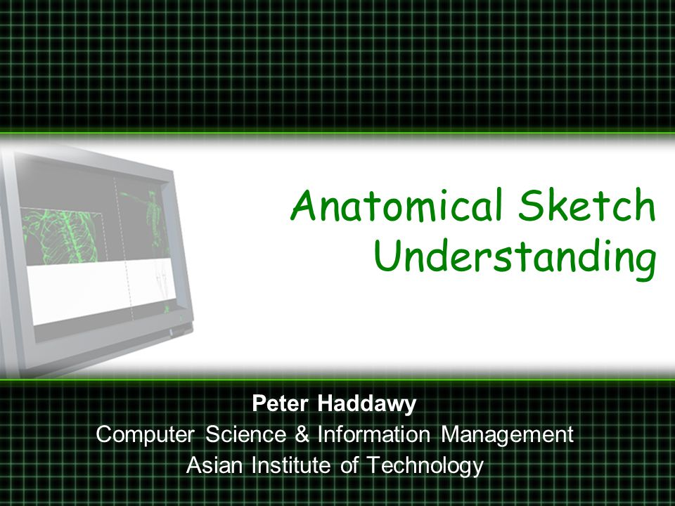 Anatomical Sketching Sketching is ubiquitous in medicine –Patient records –Communication with patients –Consultation –Medical education, particularly PBL