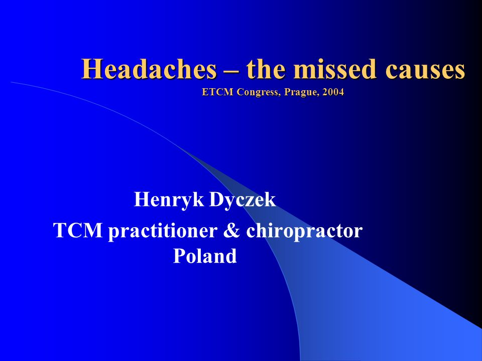 Introduction 1 Headaches is one of the most widespread complaints in modern society.